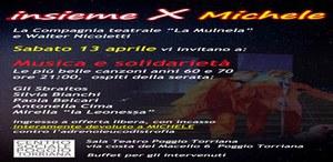 """Centro sociale : """"Insieme per Michele"""" uno spettacolo di musica e solidarietà"""
