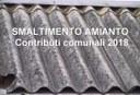 Smaltimento amianto, contributi comunali 2018
